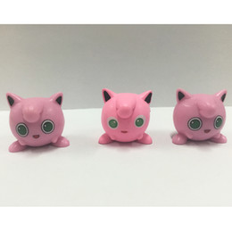 Wholesale Mini Pops Kids - Japanese Jigglypuff Anime Action Figures Mini Figurines Cute Charmander PVC Figure Pop Pokeball Model Kids Toys