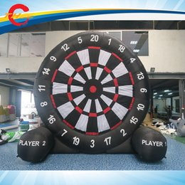 Wholesale Inflatable Football Games - 6m 20ft high single sides Inflatable darts games,giant inflatable soccer football foot darts board