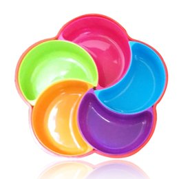 Wholesale Candy Dishes Wholesale - Petal shaped Candy tray candy Dishes fruit dishes Fashion creative fruit bowl Plastic dry fruit tray Kitchen Tools