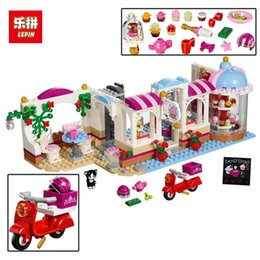 Wholesale Wooden Cupcake - Hot sale Building Blocks Assemblage Toys For Children Girl Series Lakeheart Cupcake Cafe 491pcs Bricks Friends Christmas Gifts