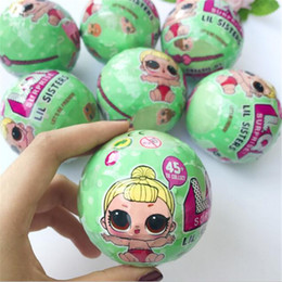 Wholesale Doll Dress Toys - 7.5 cm Send Random Dress Change LOL SURPRISE SURPRISE DOLL Baby Tear Open Color Change Egg Doll Action Figure Toys
