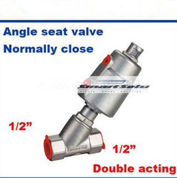 Wholesale Valve Actuator - Pneumatic actuator stainless steel angle seat valve DN15 1 2 inch normally close double acting SS for high temperature steam
