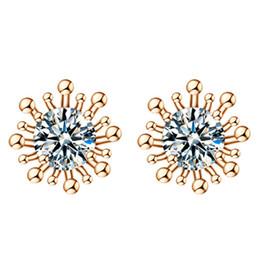 Wholesale High End Earring Chain - Women's ear jewelry of high end OL 'AAA zircon crystal earrings