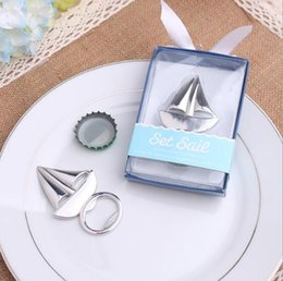 Wholesale Wholesale Aluminum Boats - Sailing Boat Bottle Opener Wedding Favors And Gifts Wedding Supplies Wedding Souvenirs Gifts For Guests TOP1706