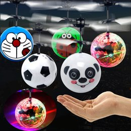 Wholesale Led Flashing Toys - RC Flying Ball,Flashing Toy,RC infrared Induction Helicopter Ball Built-in Shinning LED Lighting Colorful Flyings for Kid's Christmas gifts