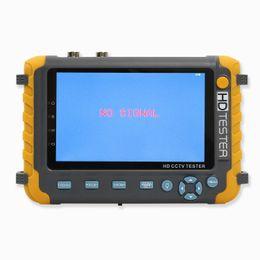 ahd tester Rebajas 5 pulgadas HD CCTV Tester probador de monitorización de entrada AHD CVI TVI CVBS cámara de 5MP 1080P HDMI VGA Cable UTP PTZ probador 12V