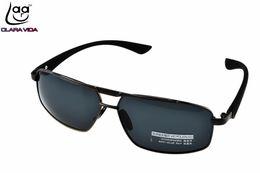 Wholesale Custom Made Sunglasses - Wholesale- =CLARA VIDA= Custom Made Nearsighted Minus Prescription Polarized Sunglasses TR90 Leg Rectangle Frame 1 -1.5 -1.75 -2 -2.5 To -6