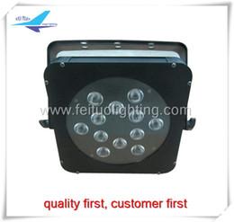Wholesale Slim Par - 4xlot led Slim par light 12x10w 4in1 RGBW flat par 64 can stage led lights dmx For Event