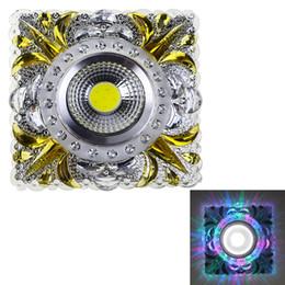 Wholesale Side Emitting Led Lights - Wholesale- Side Emitting Dimmable Led Downlights Resin Recessed Ceiling Lamps COB 3W+1W Square Creative Lighting SL57 AC 90-260V 220V 110V