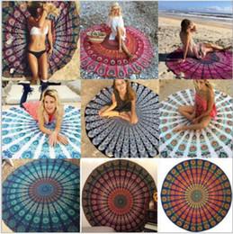 Wholesale Beach Wraps Sarongs - Indian Tablecloth Bohemian Serviette Covers Mandala Tapestry Printed Hippy Boho Beach Shawl Wraps Picnic Yoga Mats Sarongs Beachwear B2283
