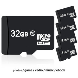Wholesale Micro Sd Cases Wholesale - 100% Real Storage 4GB 8GB 16GB 32GB SDHC Class 6 10 Micro Memory SD Card + Free SD Adapter + White Plastic Storage Case DHL Shipping