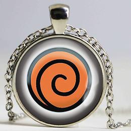 Wholesale Naruto Uzumaki Shippuden - Naruto Shippuden Sasuke Uzumaki Emblem Anime Glass Cabochon Handmade Pendant Cameo Jewelry Accessories