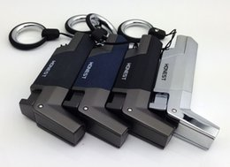 Wholesale Steel Lighters - Honest Lighter Windproof Stainless steel Butane Jet 1300 Torch Lighter Key Ring - No gas
