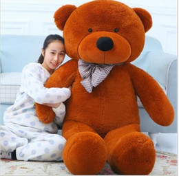 Wholesale Life Size Toy Christmas - Big Teddy Bear Stuffed Toys the Straight Length 120CM Life size Teddy Bear Giant Stuffed Bear Toys for Girls Birthday Gift