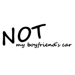 Wholesale girl car body stickers - For Not My Boyfriends Car Jdm Decal Personality Car Styling Sticker Girl Racing Vinyl Window Car Accessories Cool Graphics