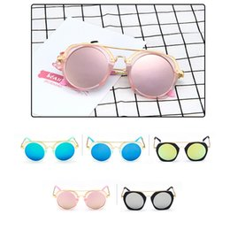Wholesale Kids Glasses Frames Sales - Sunglasses for Kids Round Sun Glasses Boys Girls Designer Adumbral Fashion Children Summer Beach Sunblock Accessories Hot Sale