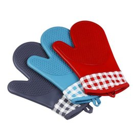 Wholesale Silicone Gloves Cooking - Heat Resistant Silicone Gloves Cooking Baking BBQ Oven Pot Holder Microwave Oven Non-slip Mitt Kitchen Accessories CCA8021 50pcs