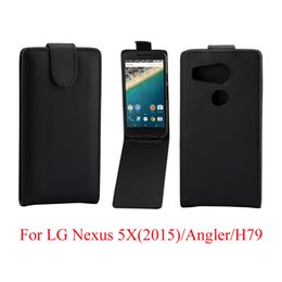 Wholesale Nexus Vertical Case - Phone Bags Cover For LG Nexus 5X phone case Back coque PU leather Flip Vertical Up-Down Open skin pouch