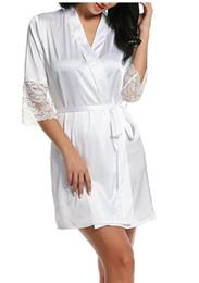 оптовый соблазн Скидка женская осень стиль sexy кружева халаты высокое качество реального шелковый халат пижамы пижамы искушение главная одежда женский халат badjas