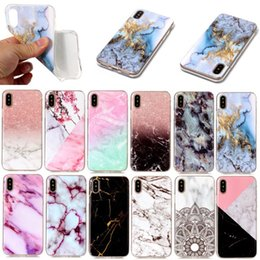 Wholesale Paint For Stone - For iPhone X Scrub Marble Stone Painted Superior Quality Soft TPU Silicone Protective Shockproof Back Cover Case For iPhone 8 7 Plus 6 6S