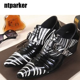 Wholesale High Fashion Dress Men Boots - Fashion black and white casual genuine leather boots,pointed toe increased high-heeled shoes, man dress shoes, EU38-46