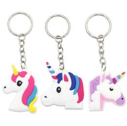 Wholesale Cute Cellphone Holder - Unicorn Keychain Horse Key Ring Key Holder Cellphone Charm Pendant Bag Kids Gift Lovely Cute Toys