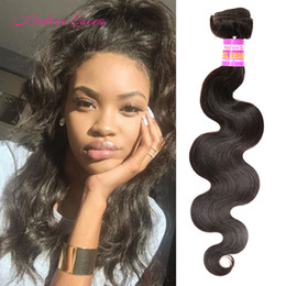 Wholesale Kinky Straight Hair For Weaving - 1 Bundle For Sample Cheap Brazilian Peruvian Body Wave Hair Weaves Straight Deep Wave Kinky Curly Loose Wave Soft Human Hair Extensions