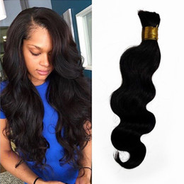 bulk hair dye Coupons - Cambodian Human Hair Weave in Bulk Natural Color Body Wave Bulk Hair Extensions Can be Dyed FDshine