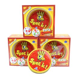 Wholesale Quality Board Games - Spot It Card Game Board Game for Children Magic Fun with Family Gathering the Animals Paper Quality Card Metal Box 2507019