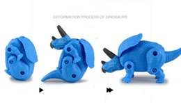 Wholesale T Rex Wholesale - Free Shipping PVC Dinosaur Plastic Jurassic Play Model Action & Figures T-REX DINOSAUR egg Toys for Children With blister card