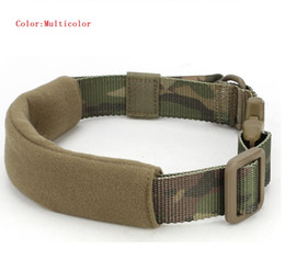 Wholesale Pet Collars Leashes Nylon - Tactical Dog Collars Wide Army Nylon Adjustable Leads Waterproof For Heavy Dogs Leash Pets Universal