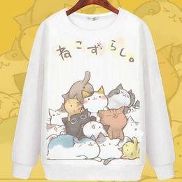 Wholesale Cartoon Characters Sweaters - Neko Atsume hoody Hot sale cartoon sweatshirt Nice keep warm hoodies Cartoon sweat shirt Quality sweater