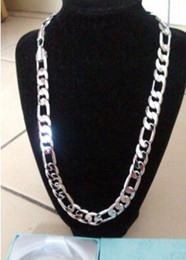Wholesale china offer - On Offer! 18K White Gold Plated Figaro 3+1 Chain Men's Christmas Birthday Gift