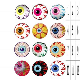 Wholesale Eyeball Charms - high quality eyeball 158 Hot Sale 18mm 12mm 20mm Button Glass Snap Button For Women Charm Bracelet Jewelry Accessories
