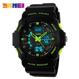 Wholesale Display Relojes - Wholesale- SKMEI Digital LED Display Sports Watches For Men Women Kids Children Quartz Sport Watch Relojes Multifunctional Boy Wristwatches