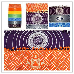 Wholesale Elephant Carpet - Beach Towel Elephant Tassel Rainbow Carpet Tapete Doormat Tapestry Indian Mandala Blankets Kitchen Bathroom Carpet free shipping