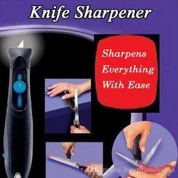 Wholesale Knife Scissor Sharpener - Knife Sharpener Kitchen Blade Knives Sharpening Tool Serrated Knife Sharpener Tungsten Carbide Sharpe Steel Knives Scissors Tools