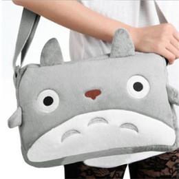 Wholesale Red Cross Doll - Wholesale- Women Handbags Cartoon Movie TV My Neighbor Totoro Plush Soft Doll Grey Messager Shoulder Bag Satchel Cosplay Bag Gift DP667852