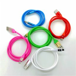 Wholesale Safe Cord - Candy Color Charger Data Cable 1m 3FT Safe Charge Line Aux Cord High Speed Sync Micro USB For Samsung HTC SONY Android Hard Material