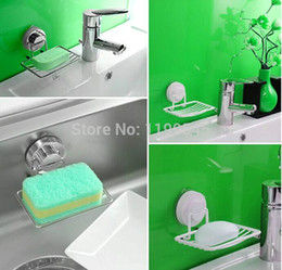 Wholesale Soap Holder Suction Cups - Dehub Suction Cup Soap Rack Vacuum Holder Soap Dish Soap Dish For Bathroom Accessories In Silver