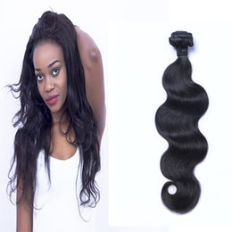 Wholesale Wave Hair Sold Bundles - Body Wave Hair 1 Piece Natural Color 8-32 inch 100% Human Hair Wholesale Bundles Virgin Hair Free Shipping Hot Sell