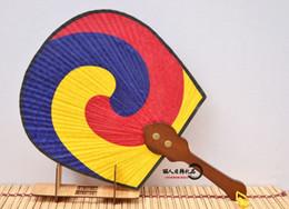Wholesale Tai Chi Fans - South Korea imported silk Tai Chi Fan Fan Juan North Korean folk handicraft decoration large Korean fan