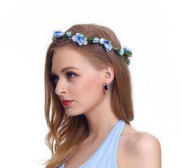 fiori di fioritura all'ingrosso Sconti Hair Crowns Flower Headbands Women Floral Floral Hairbands Fashion Headwear for Girls Accessori per capelli Beach Wedding Garlands 77