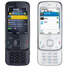 Wholesale Gps Storage - Refurbished original Nokia N86 8MP Unlocked Mobile Phone 3G WIFI 8GB Storage Bluetooth GPS Cell Phone Free Post