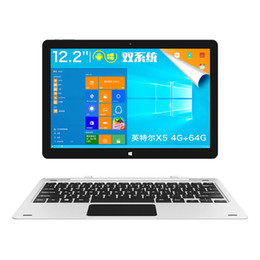 Wholesale Android 12 Dual Core - Wholesale- instockTeclast TBook 12 Pro 2 in 1 Tablet PC 12.2 inch tbook12pro Windows 10 Home Android 5.1 Intel Cherry Trail X5 Z8300 64bit