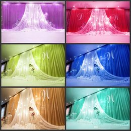 Wholesale christmas ceiling decorations - Wedding swags drapes Party Background party Celebration Background Satin Curtain Drape Ceiling Backdrop Marriage decoration Veil