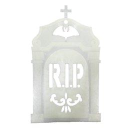 wholesale niosung halloween glow in dark tombstone door window decorations pumpkin accessories uk