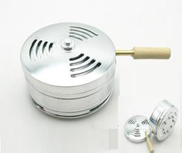 Wholesale Heated Water Bowls - 3pcs Shisha Hookah bowl cigarette tobacco smoking water pipe Aluminium alloy Metal Heat Narguile silver heat charcoal holder Stove Burner