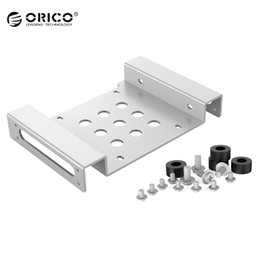 Wholesale Ide Sata Case - Wholesale- ORICO AC52535-1S Aluminum 5.25 inch to 2.5 or 3.5 inch Hard Drive Caddy Case With SATA IDE Port For SSD HDD Mount Bracket