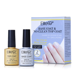 primer coating Promo Codes - Long Lasting No Clean Top Coat Base Coat UV Gel Nail Polish Shiny Sealer Manicure Set Soak off Top Base Nail Primer 10ml